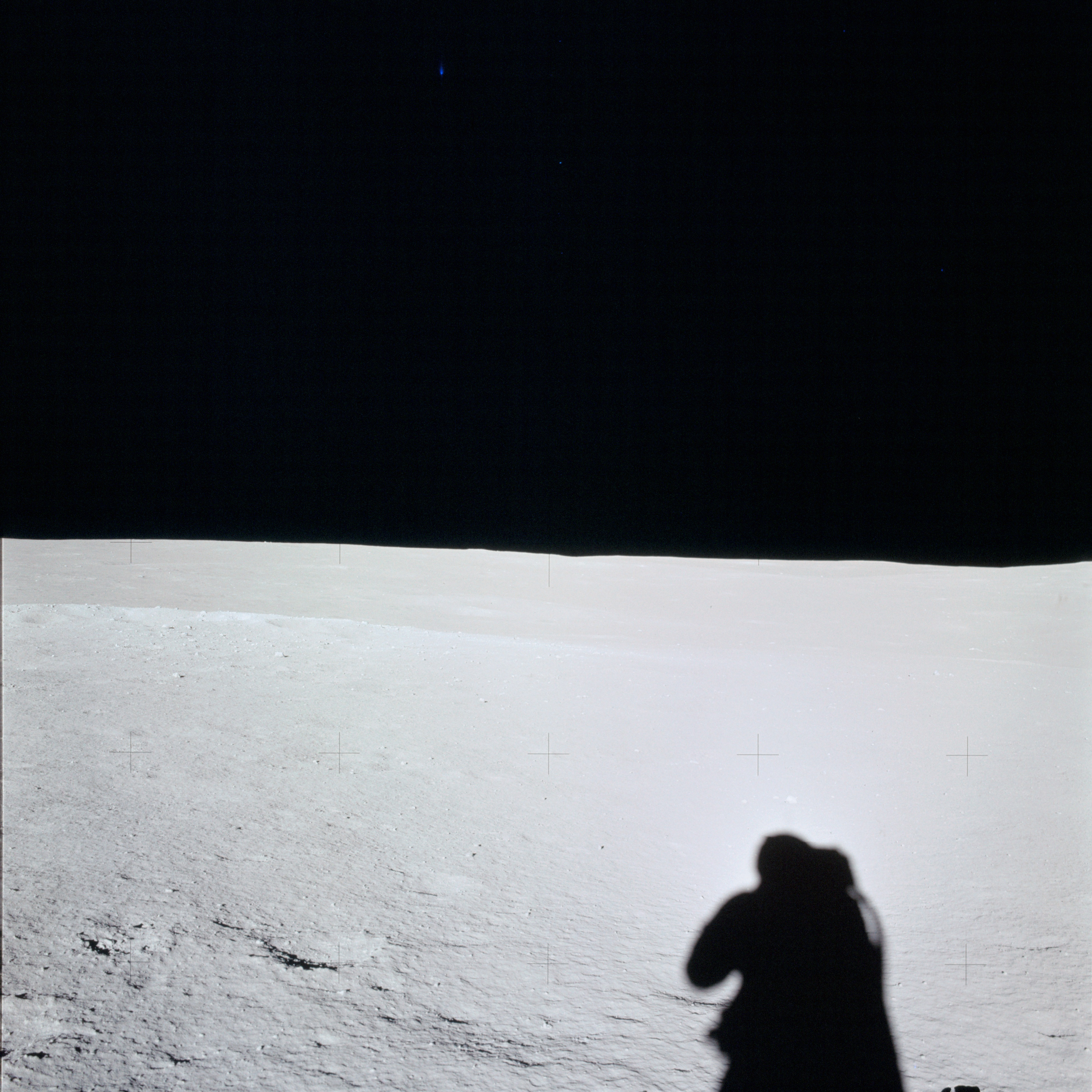 Apollo 14 Mission image - View of the Lunar Surface towards the western Horizon.